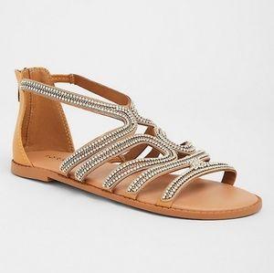Torrid Blingy Gladiator Sandal SZ 7W NWOB